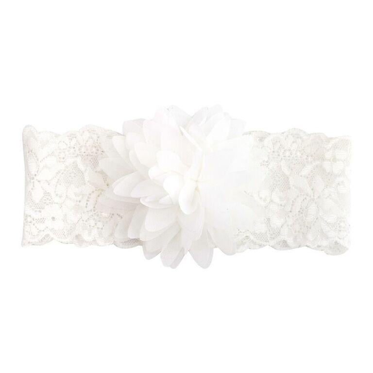 Buy Ella Flower Headband - Ivory - Designer Kidz | Special Occasions, Party Wear & Weddings  | Sizes 000-16 | Little Girls Party Dresses, Tutu Dresses, Flower Girl Dresses | Pay with Afterpay | Free AU Delivery Over $80