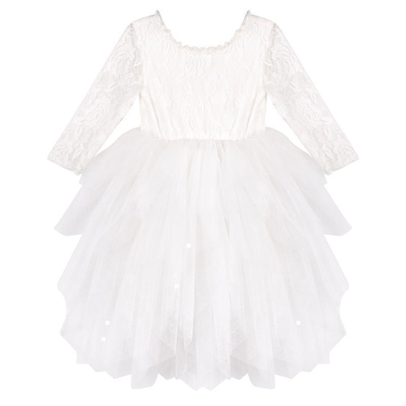 Ella Lace Tutu Dress/L - Ivory