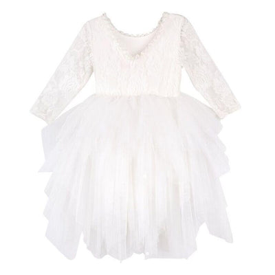 Buy Ella Lace Tutu Dress/L - Ivory - Designer Kidz | Special Occasions, Party Wear & Weddings  | Sizes 000-16 | Little Girls Party Dresses, Tutu Dresses, Flower Girl Dresses | Pay with Afterpay | Free AU Delivery Over $80