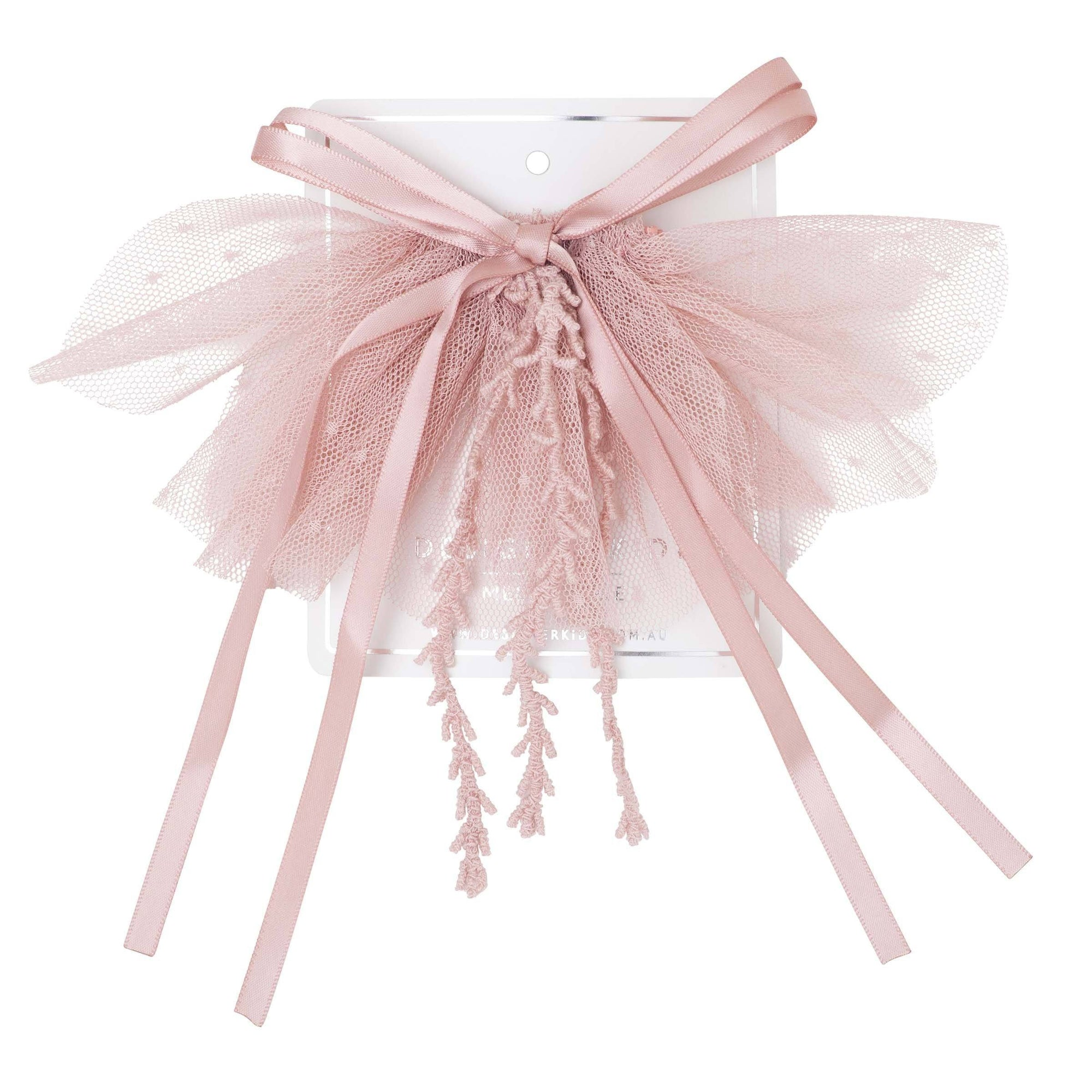 Buy Layla Bow Tie Hair Clip - Dusty Pink - Designer Kidz | Special Occasions, Party Wear & Weddings  | Sizes 000-16 | Little Girls Party Dresses, Tutu Dresses, Flower Girl Dresses | Pay with Afterpay | Free AU Delivery Over $80