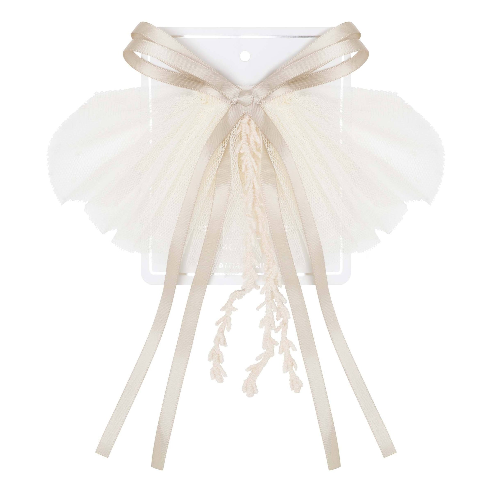 Buy Layla Bow Tie Hair Clip - Ivory - Designer Kidz | Special Occasions, Party Wear & Weddings  | Sizes 000-16 | Little Girls Party Dresses, Tutu Dresses, Flower Girl Dresses | Pay with Afterpay | Free AU Delivery Over $80