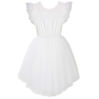 Buy Libby Lace S/S Tutu Dress - Ivory - Designer Kidz | Special Occasions, Party Wear & Weddings  | Sizes 000-16 | Little Girls Party Dresses, Tutu Dresses, Flower Girl Dresses | Pay with Afterpay | Free AU Delivery Over $80