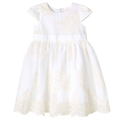 Madison Christening Dress - Beige - Designer Kidz