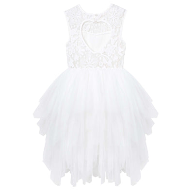 Buy Tara Heart Back Dress - Ivory - Designer Kidz | Special Occasions, Party Wear & Weddings  | Sizes 000-16 | Little Girls Party Dresses, Tutu Dresses, Flower Girl Dresses | Pay with Afterpay | Free AU Delivery Over $80
