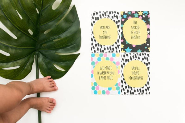 Along Came A Baby - Milestone Cards