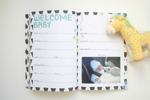 Along Came A Baby - Baby Keepsake Book + Milestone Cards Bundle