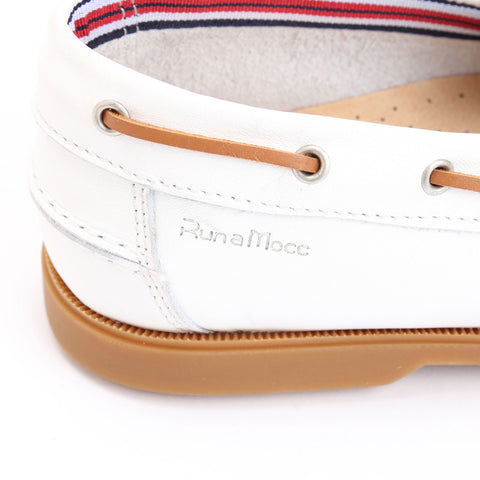 White Leather/White Perforated Leather