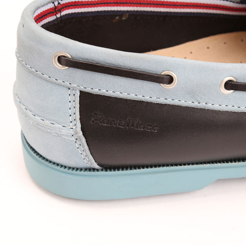 Black Leather/Light Blue Nubuck