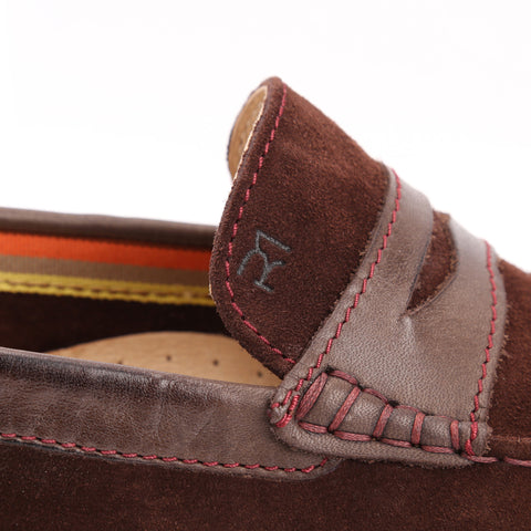 Chocolate Brown Suede/Chocolate Brown Leather