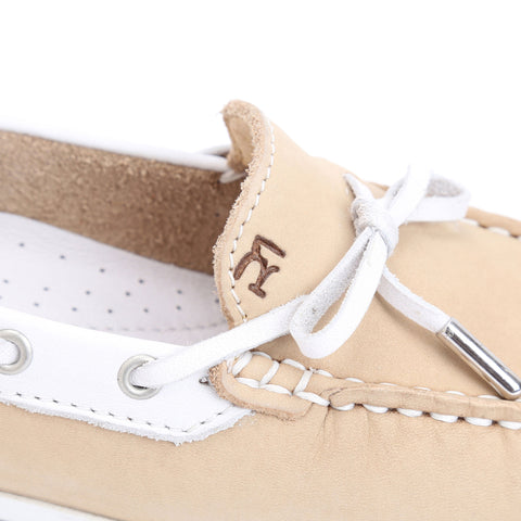 Stone Nubuck/White Leather