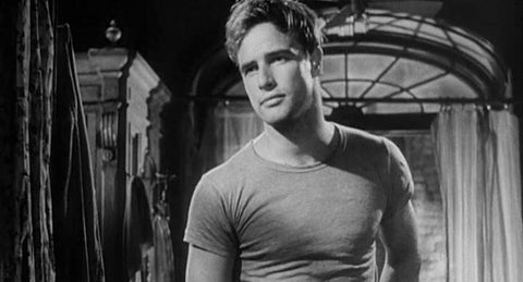 Marlon Brando doing his bit to popularise the T-Shirt