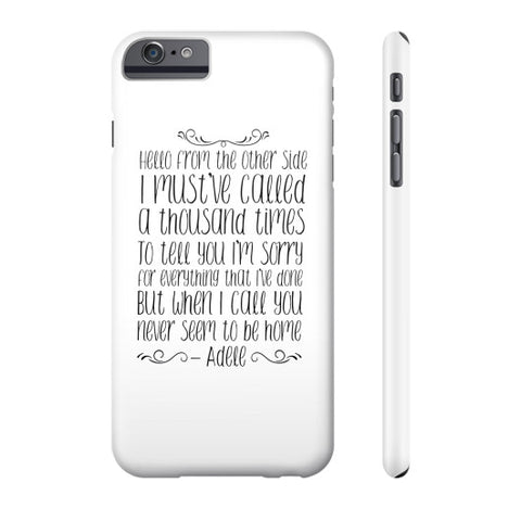 "Adele ""Hello"" Phone Case  Robert Klein"