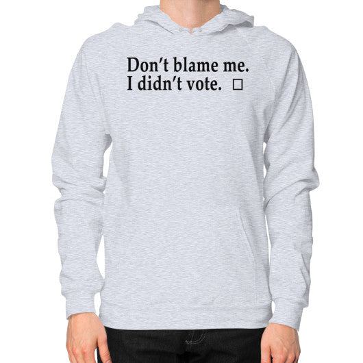 Don't Blame Me Hoodie (on man) Heather grey Robert Klein