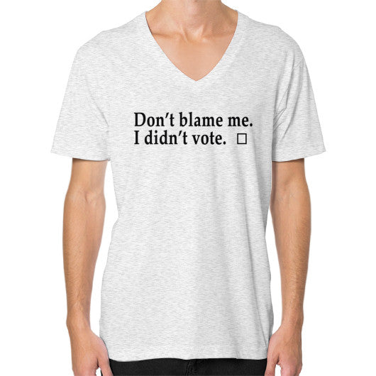 Don't Blame Me V-Neck Ash grey Robert Klein