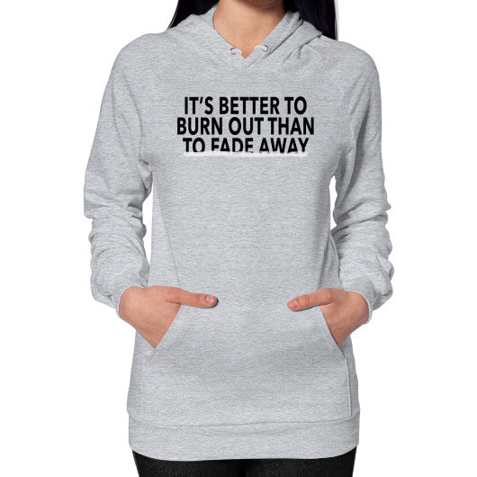 Hoodie (on woman) Heather grey Robert Klein
