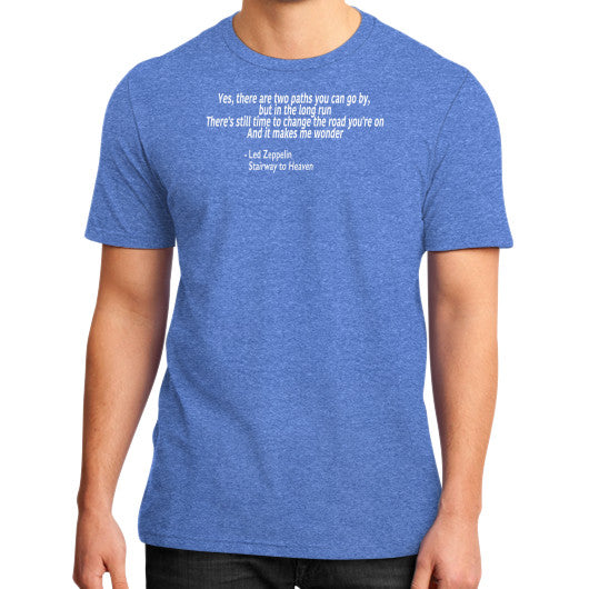 Led Zeppelin's Stairway to Heaven on District T-Shirt Heather blue Robert Klein