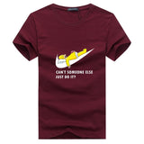 New Homer Simpson Nike Design T-Shirt - Can't Someone Else Do It?