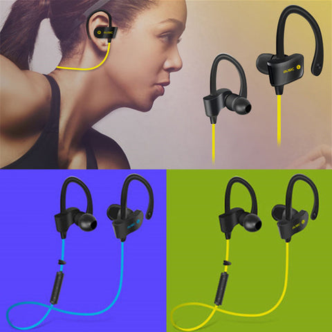BluShell Wireless Bluetooth Headset Sport Stereo Headphone Earphone For iPhone 7 and 7 Plus or Samsung