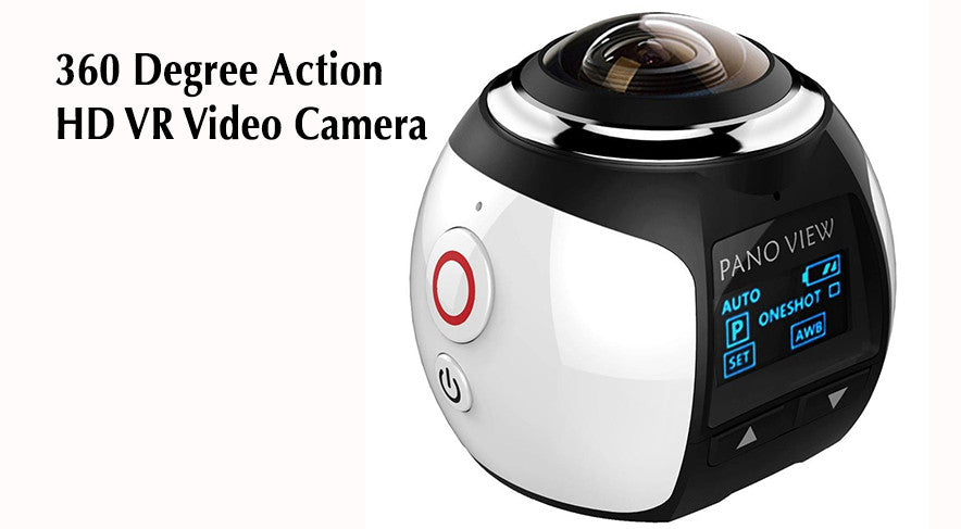 Shoot Virtual Reality 360 degree videos with this new HD camera