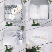 Load image into Gallery viewer, Silver Gift Box with Silver Ribbon