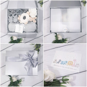 Silver Gift Box with Silver Ribbon