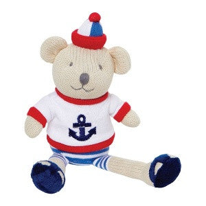 Cotton Knit Nautical Bear