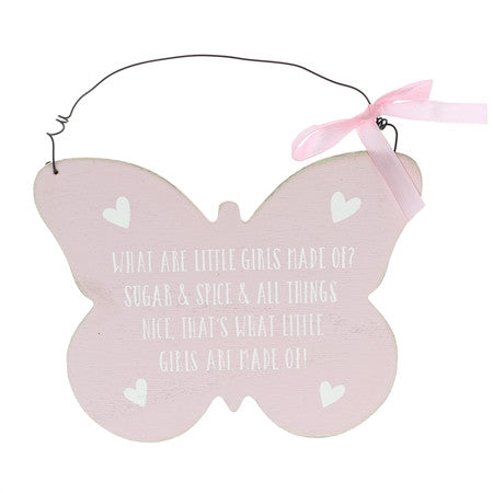 Butterfly Shaped Hanging Plaque