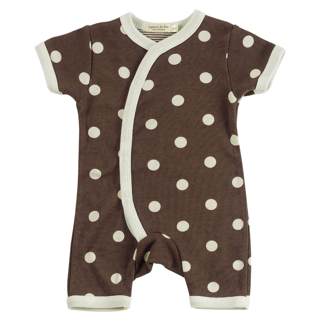 Organic Cotton Brown Romper 0-5 months