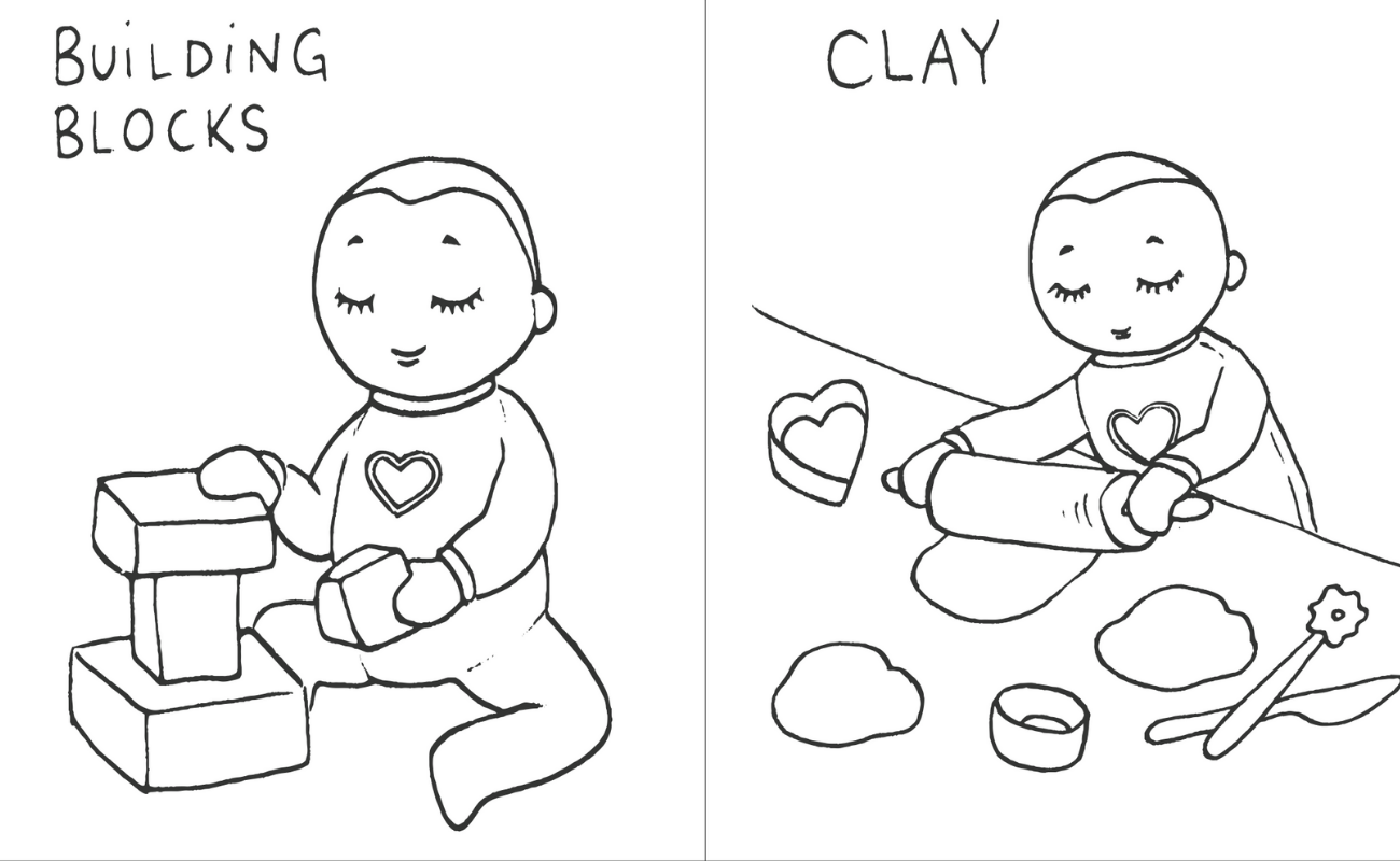 Activity cards - building blocks and clay making