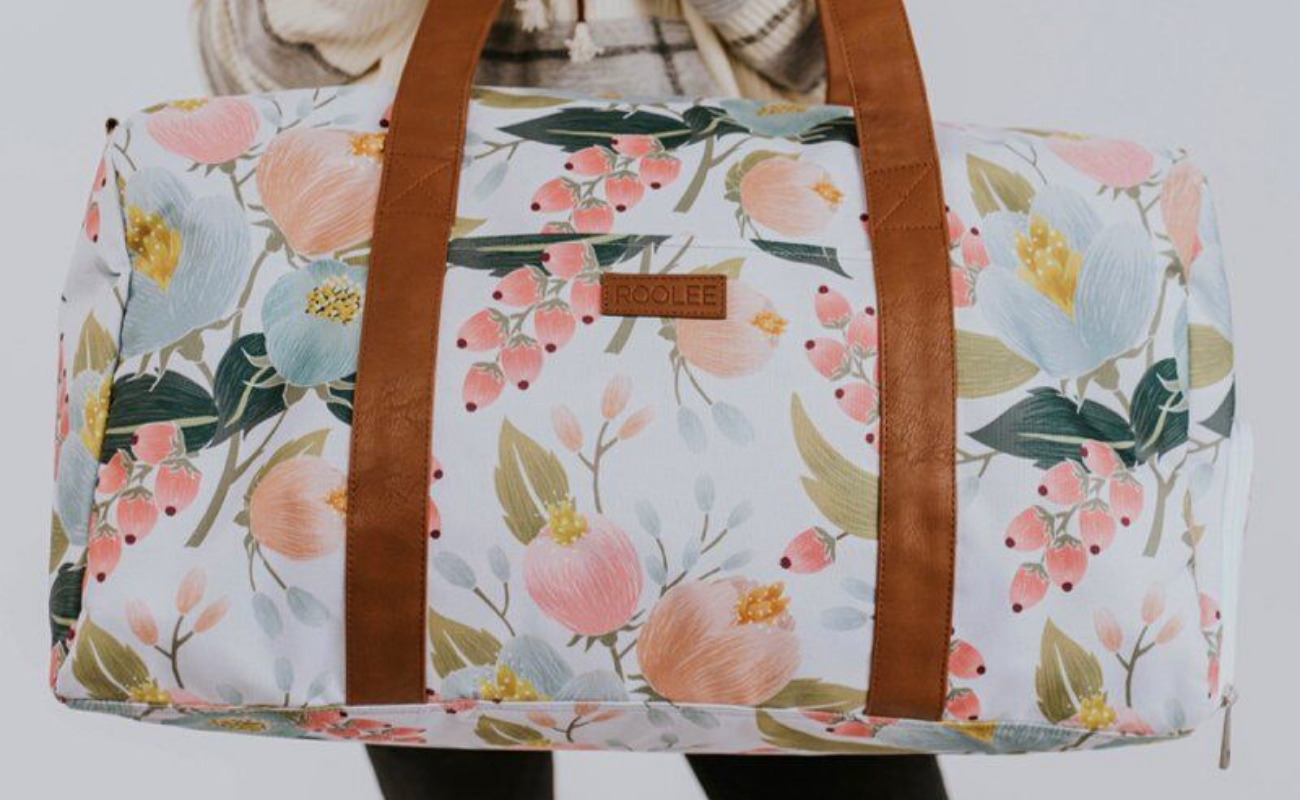 Duffel bag flower pattern