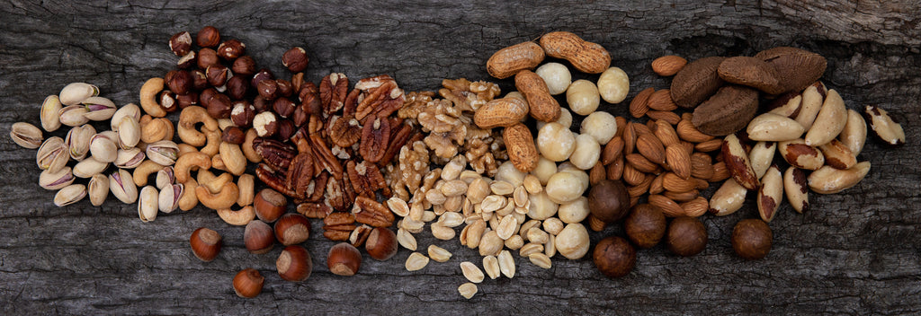 Wide range of nuts