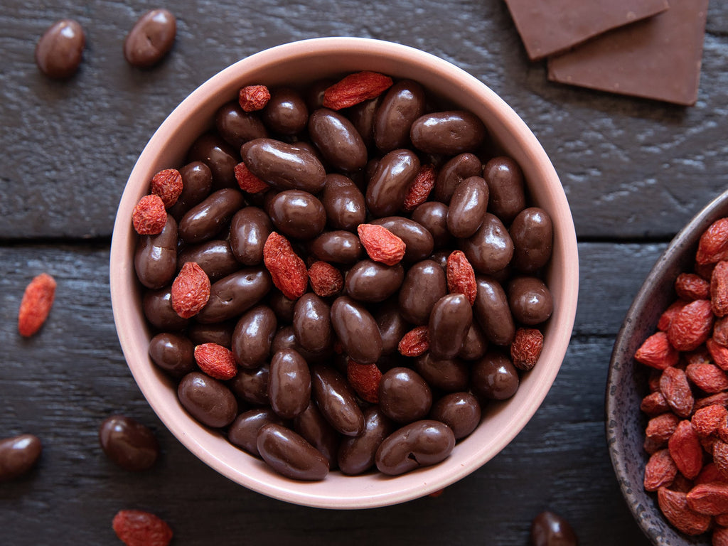 Dark choc goji berries