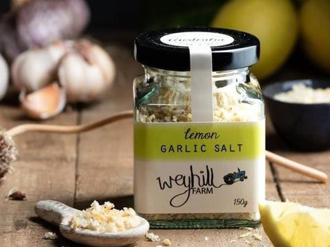 Garlic Salt - Lemon - Weyhill Farm Gippsland - 150g