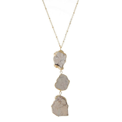 Ivory Stone Necklace - Chic Society Boutique