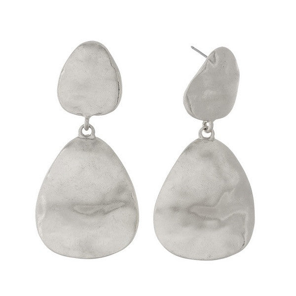 Kenzi Hammered Earrings - Chic Society Boutique