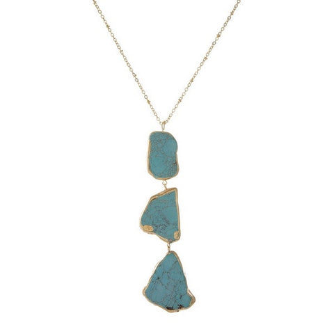 Turquoise Stone Necklace - Chic Society Boutique