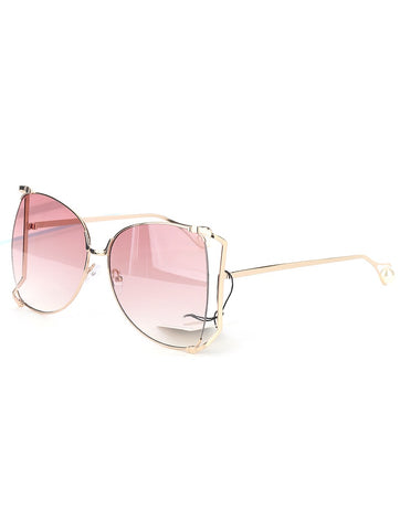 Dinero Sunglasses (Peach) - Chic Society Boutique