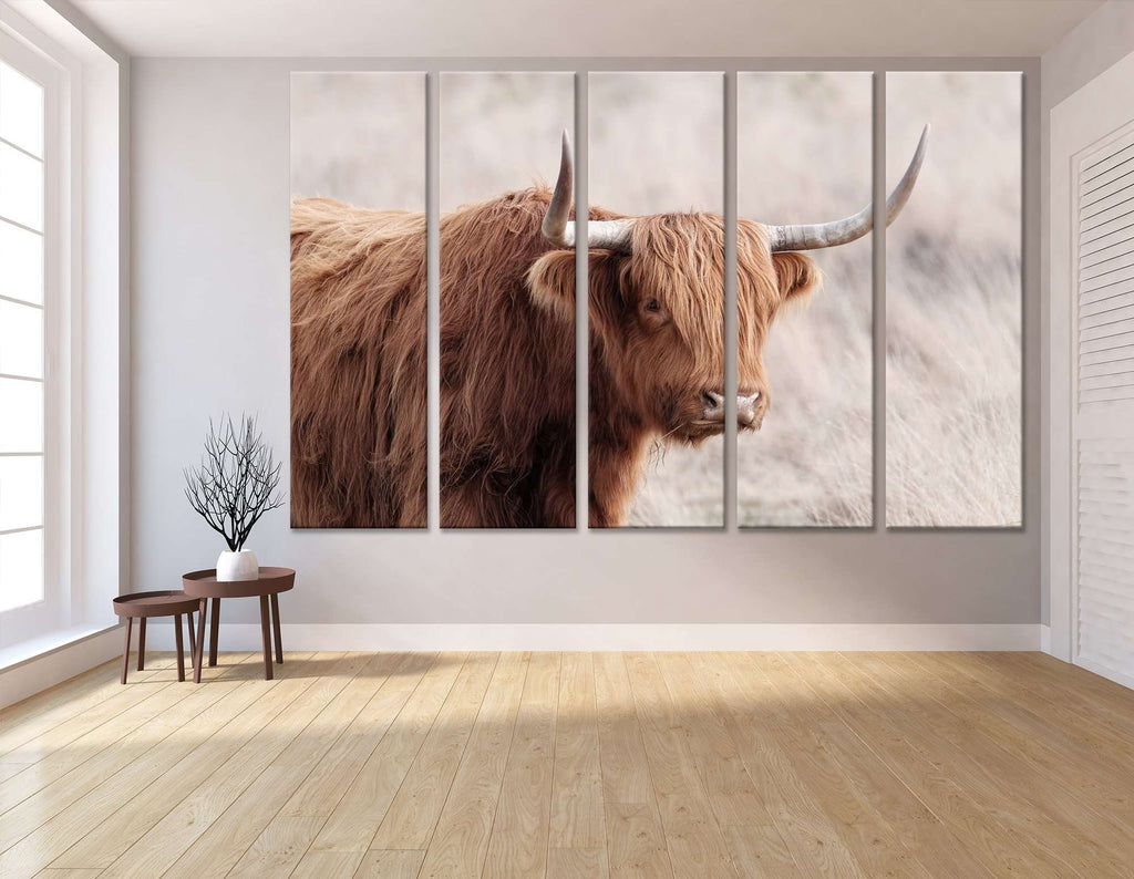 Highland Cattle №04129 Ready to Hang Canvas Print