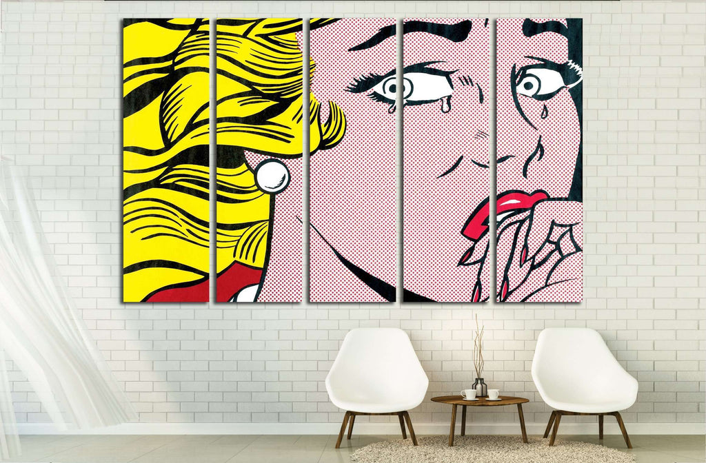 1960s pop art №3300 Ready to Hang Canvas Print