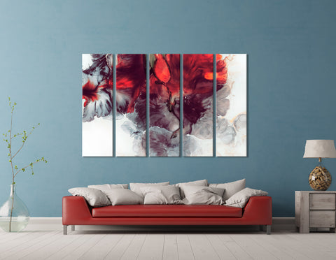Colorful Flowers Abstract №04384 Ready to Hang Canvas Print