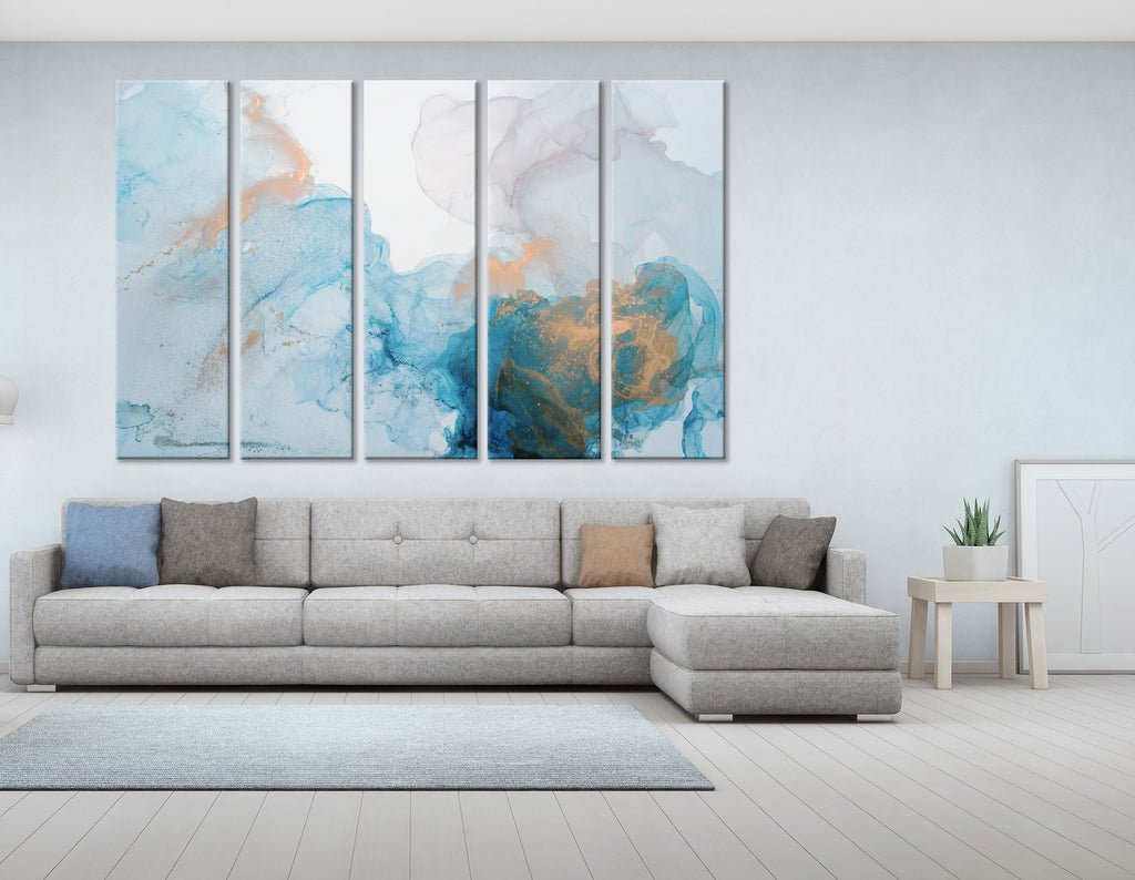 Light Blue Abstract №04397 Ready to Hang Canvas Print
