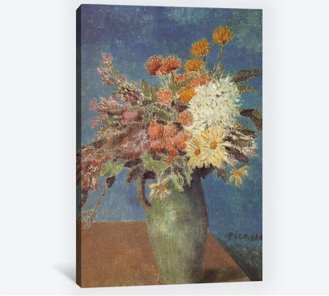 Pablo Picasso, Vase of Flowers - Canvas print