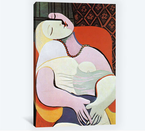Pablo Picasso, Woman asleep in an armchair - Canvas print
