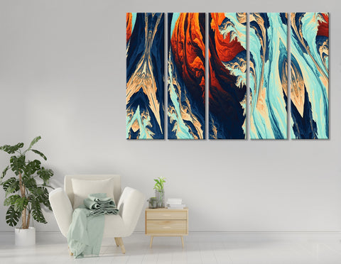 Colorful Stylish Abstract №04404 Ready to Hang Canvas Print