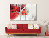 Red And White Abstract №04386 Ready to Hang Canvas Print