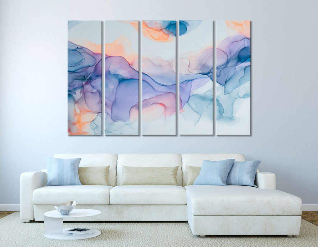 Colorful Smoke Abstract №04416 Ready to Hang Canvas Print