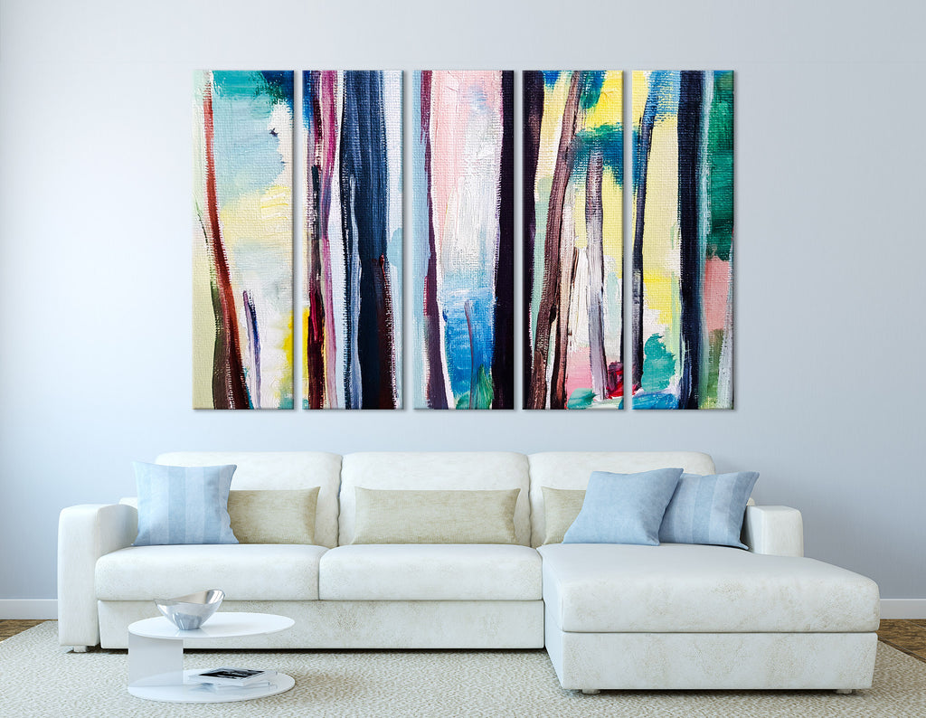 Fantastic Forest Abstract №04256 Ready to Hang Canvas Print