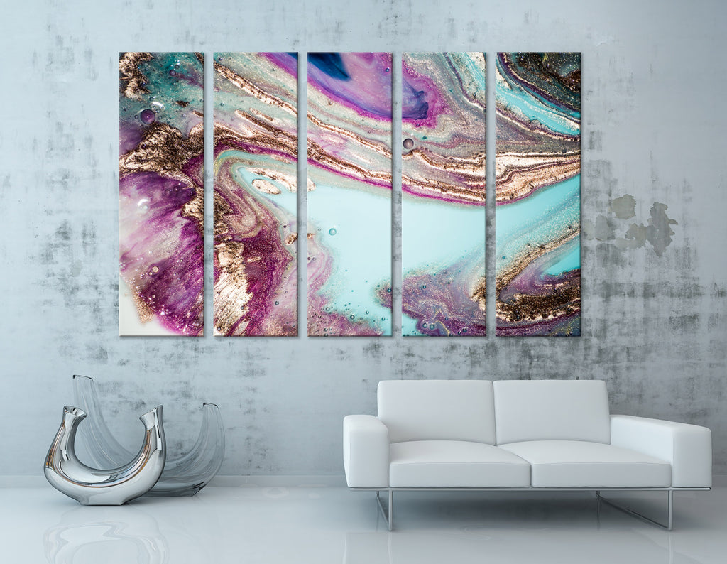 Lake In Taiga Abstract №04281 Ready to Hang Canvas Print