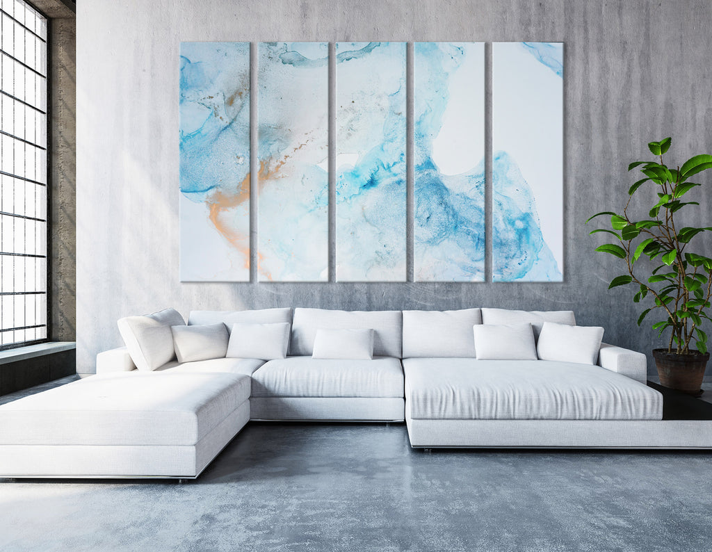 Light Blue Abstract №04297 Ready to Hang Canvas Print