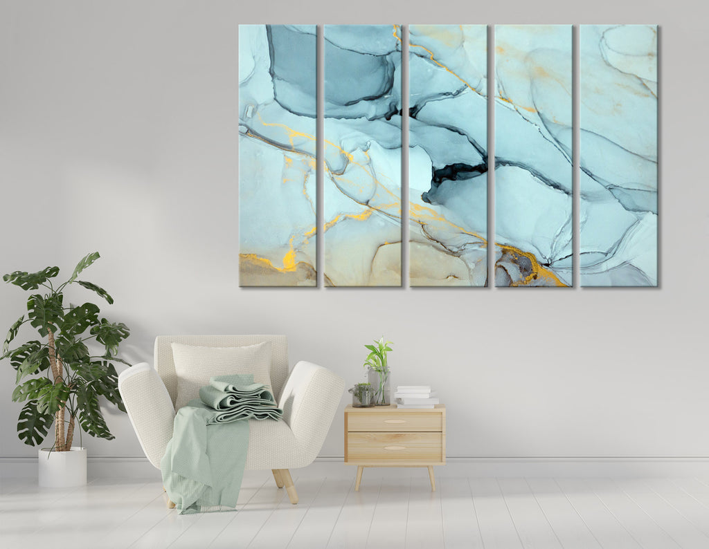 Light Mint Fashionable Abstract №04414 Ready to Hang Canvas Print